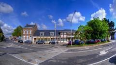 L'école - The school (Ⓨ a s m i n e Ⓗ e n s +4 900 000 thx❀) Tags: school école bluesky sky clouds hdr blue green town city trees arbre hensyasmine belgium belgique