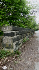Bridge parapet at Bog Green Lane   (Huddersfield   Newtown - Mirfield  old railway) (dave_attrill) Tags: huddersfield newtown hillhouse mirfield lmsr london midland scottish railway disused line goods only branch trackbed west yorkshire riding cycle path foothpath ncn connection sheffieldtobradford april 2017