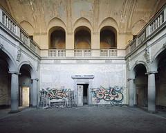 Arches (Subversive Photography) Tags: detail abandoned beautiful germany graffiti arch decay urbandecay arches urbanexploration ornate sanatorium pillars derelict lungs urbex sanitorium danielbarter
