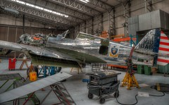 Curtiss P40  under maintenance. (Jonathan Saull) Tags: digital ed fighter duxford warbird 128 iwm iwmduxford 1240mm historicaircraft mzuiko olympusomd olympusondem1