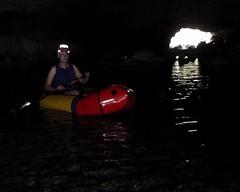 086 Deep In Lower Natural Bridge (saschmitz_earthlink_net) Tags: california creek floating inflatable cave raft cavern naturalbridges 2014 coyotecreek calaverascounty vallecito newmeloneslake nsswesternregional lowernaturalbridge