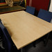 Large maple meeting table
