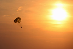 end of day (scienceduck) Tags: sunset 15fav ontario canada beach paraglider lakehuron grandbend 2014 scienceduck
