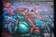 Feeling froggy (dangr.dave) Tags: architecture dallas mural downtown texas tx historic frog toad deepellum bigd