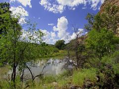 Beaver River at Montezuma Castle National Monument; Camp Verde, Arizona (xscabboyx) Tags: arizona castle monument clouds ruins indian sedona roadtrip nativeamerican national hopi montezumas campverde sinagua beaverriver