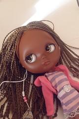 My new girl: Vanessa (my tbl custom...my first black blythe...)