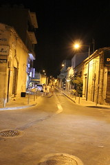 Streets of Limmasol by night - Around the Old Carob Mill Area