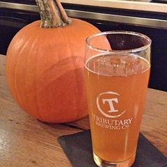"I'm not a pumpkin beer lover, but I love this locally made Tributary Brewing Gose. If it's next to a pumpkin at @thistlepig , that's good enough, right?  #beer #craftbeer #eatlocal #drinklocal • <a style=""font-size:0.8em;"" href=""http://www.flickr.com/photos/54958436@N05/15262773707/"" target=""_blank"">View on Flickr</a>"