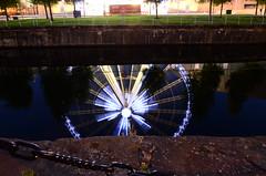 Liverpool 1 wheel reflection (Trev Green) Tags: reflection wheel liverpool nightshot albertdock