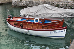 Miss Braghina (darusmois) Tags: ocean wood old blue sea wallpaper sky italy sun white lake castle water yellow clouds dark boat spring sand garda waves sailing view bright yacht antique number deck letter sail ochre continent yachting gardalake dbphotography meetitaly