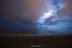 23:48 PM (Karim Achalhi) Tags: life light summer sky moon men beach water night fishing magic north happiness august morocco moment lonelyness 2014 darknesse chemaala
