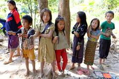 Village kids (DSLEWIS) Tags: children boat laos mekong villagers mekongriver laotians