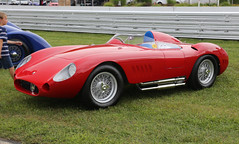 red side pipes rosso maserati armco exhaust corsa roadster barchetta concoursdelegance limerock wirewheels 300s