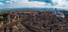 Siena - Tuscany, Italy (Morton Rainey) Tags: city blue sky italy italia dom siena duomo citta toskana