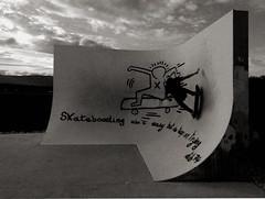 hand on the wall (OLDLENS24) Tags: park st de julien geneva board pipe bowl skatepark skate skateboard roller genève trotinette rollerball rampe genevois