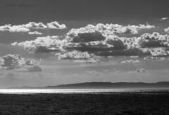 El mar y el cielo (Colore-arte) Tags: sea sky bw espaa monochrome clouds canon landscape monocromo mar mediterraneo paisaje ps bn cielo nubes