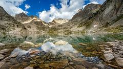 Lac Nègre (jpmiss) Tags: sky lake alps reflection clouds alpes canon landscape day cloudy lac côtedazur reflet ciel miroir nuages paysage miror mercantour 6d frenchriviera polarizingfilter vésubie lacnègre boréon jpmiss