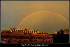 2014-09-08-Arc de San Mart BCN_2 (Oscar Lleix) Tags: barcelona arcoiris arcoirisdoble arcdesantmart nikond5100