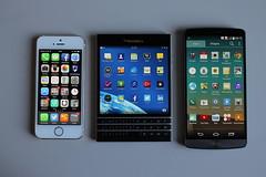 BlackBerry Passport vs iPhone 5s, LG G3