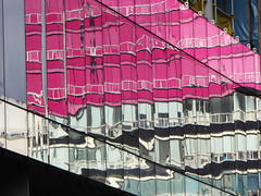 Hanover Street Reflection (g crawford) Tags: city glass architecture glasgow cities reflect queenstreet crawford hanoverstreet ingramstreet reflectionred