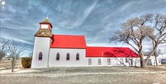 Google Street View - Pan-American Trek - United Methodist Church in Channing (kevin dooley) Tags: street red church birds trek religious google texas view tx religion christian methodist hdr panhandle streetview unitedmethodistchurch brightred panamerican channing photomatix gsv texaspanhandle googlestreetview panamericantrek