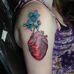 IMG_20140921_235342 (johnherndon87) Tags: flowers color orlando heart tattoos lowbrow johnherndon anatomicalheart flowertattoos hearttattoos orlandotattooshops orlandotattoos lowbrowartproductions orlandotattooartists lowbrowtattoos