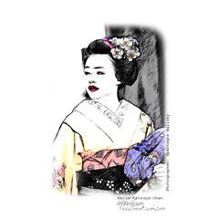 Maiko Katsuya chan   Pencil Drawing (photography.andreas) Tags: print fineart maiko chan pencildrawing zeichnung katsuya wwwfineartworkcom