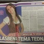 Naomi Novak, članek v reviji Svet24 o novi oddaji Glasbena tema tedna na Veseljak TV..