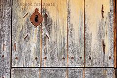 CLOSED (JLuisOrtn (**Running Slow**)) Tags: door old color horizontal wooden rust closed lock antique nopeople deadlock oxide joseortin