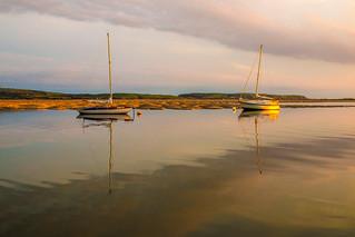 Golden light on the Dyfi estuary