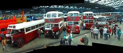 The old guard (beqi) Tags: panorama bus history edinburgh doorsopenday photoshoppery 2014 lothianbuses