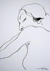P1010310 (Gasheh) Tags: portrait art girl painting nude sketch body drawing line figure 2014 gasheh