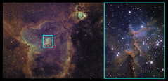 IC1805 FOV Comparison (Chuck Manges) Tags: celestron ic1805 heartnebula melotte15 astrotech qhyccd at65edq qhy9m cgemdx qhy23m