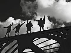 The Fab Four (Squatbetty) Tags: silhouette liverpool thefabfour ironwork thebeatles merseyside pennylane pennylanecommunitycentre