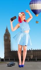 Oh London - a few words about a Wanderlust heart (amelyrose) Tags: trip blue england london car fashion photo unitedkingdom bigben wanderlust latex hotairballoon shooting mode 2014 amelyrose taxipolice