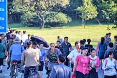 Pedestrians in North Korea (Ray Cunningham) Tags: people walking north korea pedestrians pyongyang dprk coreadelnorte