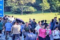 Pedestrians in North Korea (Ray Cunningham) Tags: people walking north korea pedestrians pyongyang dprk coreadelnorte