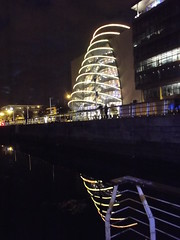 DSCF8789 (Winter Ghosts) Tags: dublin reflections lights riverliffey conventioncentre mvcillairne windowwednesdays