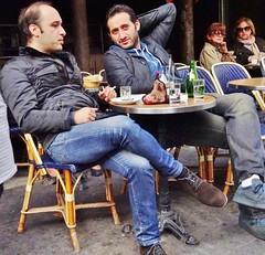 2014-10-11  Paris - Le Pré 4 Rue du Four (P.K. - Paris) Tags: street people paris café french october terrace outdoor pavement candid drinking terrasse sidewalk openair octobre 2014 terrazza