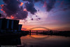 Runcorn Bridge at sunset (juliereynoldsphotography) Tags: bridge sunset england reflections river mersey runcorn juliereynolds