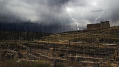 41/52: water (ponzoñosa) Tags: storm water photoshop lluvia ruins romano ruina tormenta valeria 52weeks