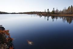 Cranberry Lake, Nova Scotia (Boganeer) Tags: cranberrylake lake novascotia maritimes maritime timberlea atlanticcanada canon canonxti canada water nouvelleecosse reflection calm bluffwilderness trail autumn
