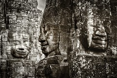 The Smiles of Contentment (Trent's Pics) Tags: smile statue temple ruins cambodia khmer buddhist monastery spiritual siemreap angkor thebayon hindu scultpure contentment basrelief bayon angkorthom khmersmile