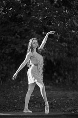 Dancer in Black and White (Pittypomm) Tags: uk england bw ballet monochrome pose photo bokeh walk somerset dancer swirl 2014 frome wwpw2014