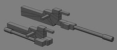 Cannon Concept 01 (OrangeKNight) Tags: 3d parts weapon printing sniper cannon builders concept custom gundam folding mecha mech gunpla shapeways