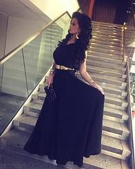 Zuzana ako moderátorka plesu v šatách od Matty Urbanič