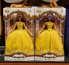 LA Belle 17 Inch Doll Release at the Disney Store - 2017-03-17 - LE Belle Dolls Behind Registers (drj1828) Tags: us disneystore beautyandthebeast liveactionfilm belle ballgown yellow 2017 limitededition le5500 release instore