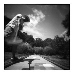 MiniGolf Course (Dikal) Tags: zeroimage2000 zero2000 zeroimage zero pinhole sténopé squareformat square 6x6 lensfree blackandwhite bw nb noiretblanc golf minigolf ilford ilfordfp4 film rodinal homemade 2016 dikal autoportrait selfportrait