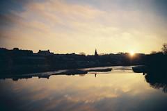 Still waters a la plastic (bigalid) Tags: film 35mm hanimex 35se plastic dumfries 2017 january river nith agfaphotovista200 c41 sunrise