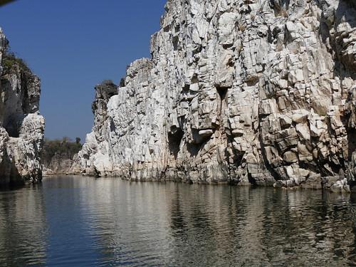 Narmada river - Marble Rocks - Bhedaghat - Jabalpur - Madhya pradesh - India